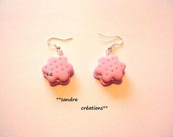 Strawberry Pink Perfume cookies Stud Earrings