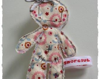 Brooch gray Smorglub node fabric