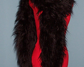 Magnificent Black Faux Fur Boa