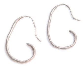 Primitive Sterling Curly Earrings