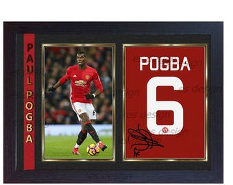 new Paul Pogba signed autographed Manchester United FC Framed