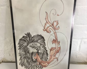 Limited Lion print. By Jo Chastney