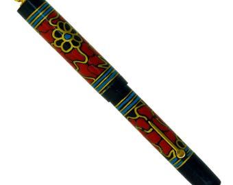ORIGINAL Art Nouveau HAND-PAINTED National Pen Company of Chicago Fountain Pen, United States circa 1920 **