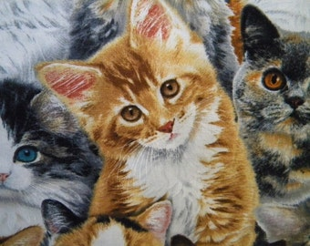 Adorable Pets--kitten fabric--by the yard--Elizabeth's Studio, most breeds