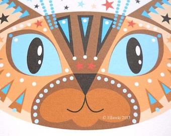 Cat greetings card Siamese cat