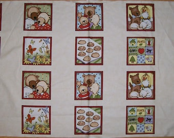 An Adorable Count My Blessings Cream Fabric Panel Free US Shipping