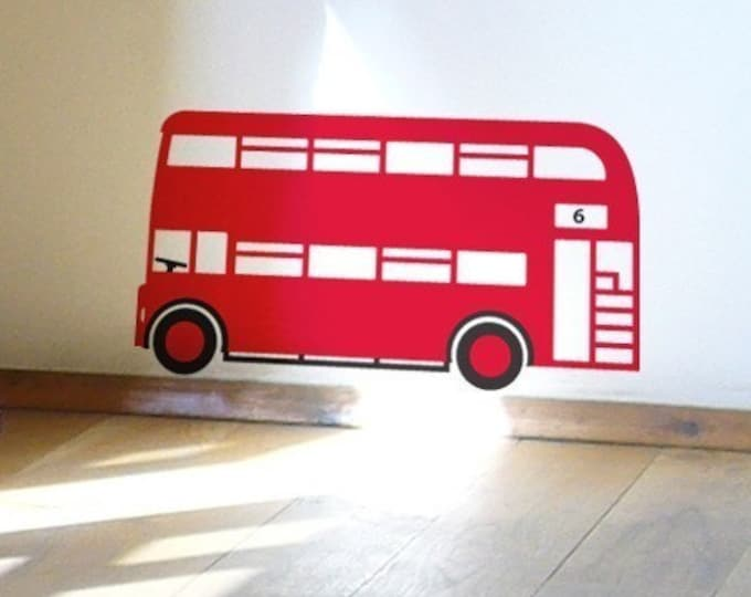 Red London Bus Wall Sticker for Children