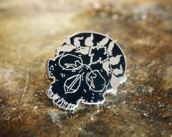 Jeweled Saint Enamel Pin - Silver