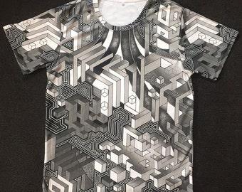 Tee shirt - Interdimensional (Black and gray)