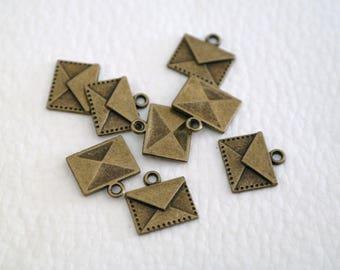 Bronze envelope charm