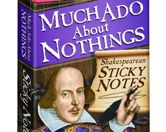 Shakespeare Sticky Notes Pad, Much Ado About Nothings Note Pad, Teacher Gift Idea, Shakespearean Sticky note pad, William Shakespeare Notes,