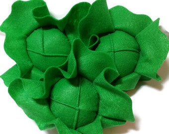 Lettuce - fresh and felt! eco-friendly felt play foods - washable and durable!