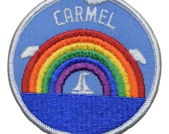 Vintage Carmel Rainbow and Sailboat Patch - California