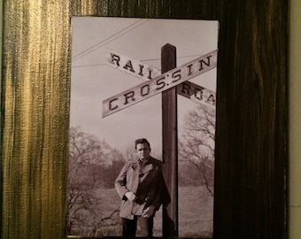 One of a kind Johnny Cash on handpainted 8x10 canvas