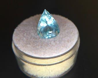 Big NATURAL Blue Aquamarine 3.85ct Pear Cut Gem TOP GRADE Beryl