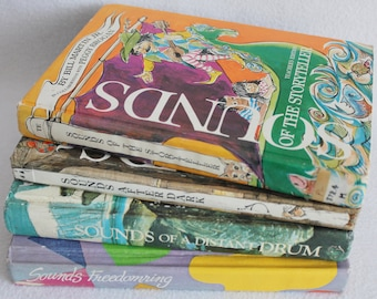 Old book journal--you choose the book // Vintage School Readers // Sounds of Books / Recycled Book by PrairiePeasant