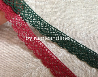 cotton lace, Christmas gift wrap, 2 yards, about 15cm wide