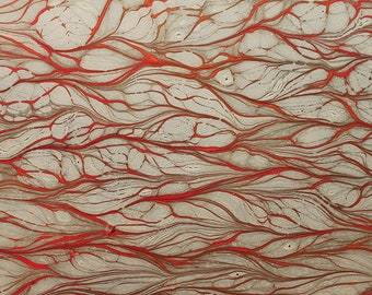 Marbling paper Art Lianas papel marbled