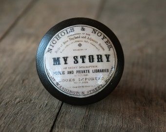 """Vintage Knobs The Books Series Newest Design - """" My Story"""""""