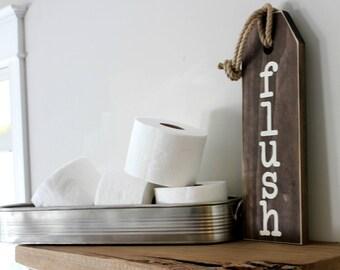 Rustic Bathroom Wall Decor - Flush Floss Wash Soak Relax Sign - Rustic Bathroom Sign - Bathroom Rules Sign - Bathroom Art - Rustic Home