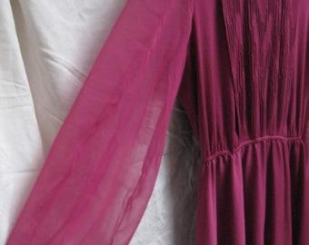 deep fuchsia fandango - vintage plus size party dress