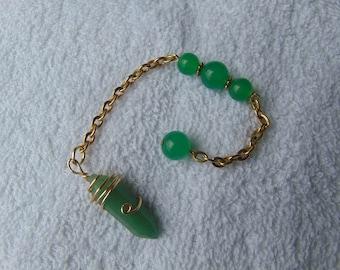 pendulum, aventurine, wire wrapped,