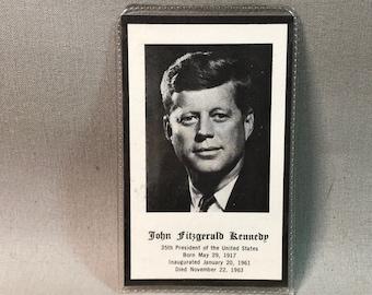 JFK Prayer Card Jeffries and Manz 1963