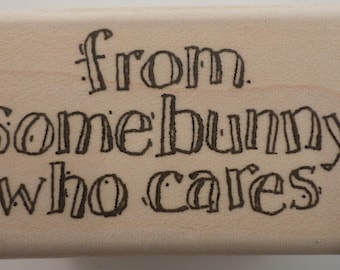 Stampington And Co From Somebunny Who Cares Wooden Rubber Stamp #K5226