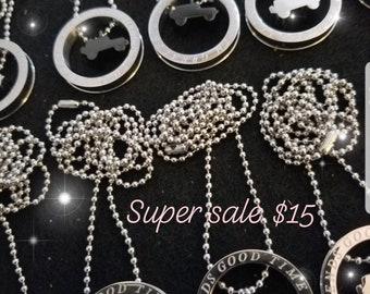 Stainless steel jeep necklace