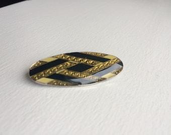 Vintage Pierre Bex Style Art Deco Enamel Brooch/Pin