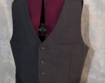Heathered Gray Men's Vest Size 40
