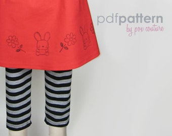 Pant Leggings - PDF PATTERN and Instructions 18m-6 epattern