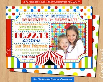 Carnival invitation Circus Invitation Carnival ticket invitation Circus Ticket Invitation Ticket invite Circus invite Carnival theme party