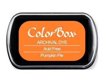 ColorBox Full Sized Archival Dye Acid Free Ink Pad Pumpkin Pie Orange