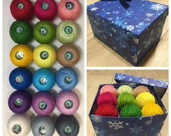 Iris 100% Mercerized Cotton Yarn Thread Crochet Embroidering 18 skeins 450g Russia.