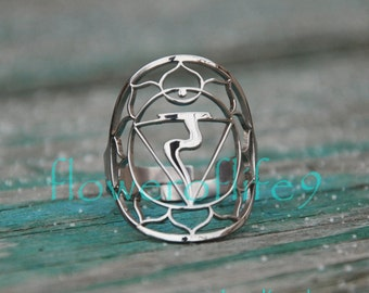 3rd Chakra ring - Stainless Steel
