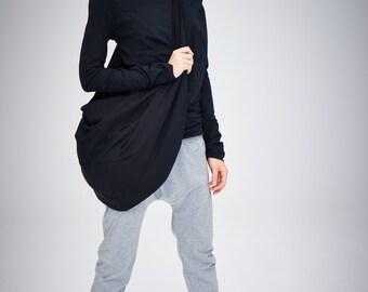 Oversized Black Bag / Yoga Bag in Black / Gift For Her / Yogawear / Cross-Body Black Tote by AryaSense/ YB14LG