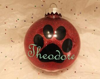 Custom Paw print ornament