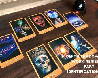 In Depth Shadow Work Series Tarot Reading 1:  8 Card Identification
