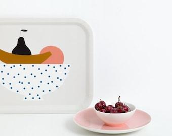 FRUIT PLATTER TRAY - Tray by Depeapa, serving tray, illustration Depeapa, illustrated tray, rectangular tray, fruit platter