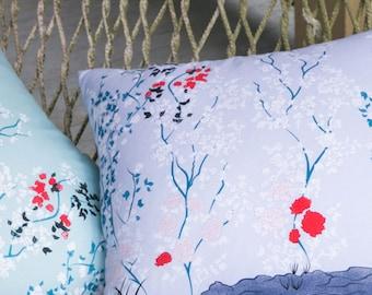 Lavender Chinoiserie Throw Pillow