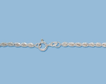 Sterling Silver 2.5 mm Rope Chain