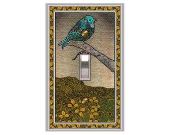 1755X - Bird on a Branch - mrs butler switch plate covers -