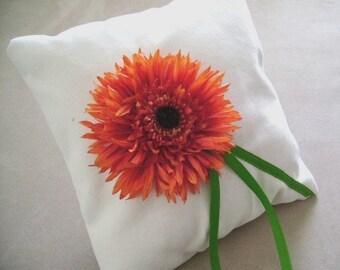 Le Fleur Orange Ring Bearer Pillow