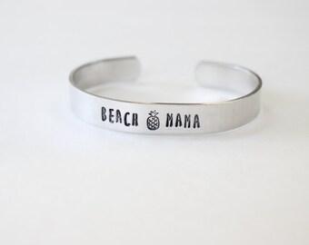 beach mama bracelet, beach mama jewelry, beach jewelry, summer jewelry, pineapple jewelry, beach bracelet, ocean jewelry, ocean mama, beach