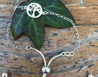 Silver Bracelet With Tree Of Life 24cm