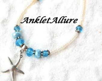 Beach Anklet Starfish Ankle Bracelet Blue Cruise Jewelry Anklets for Women GUARANTEED