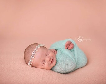 Mint RTS Stretchy Soft Newborn Knit Wraps 80 colors to choose from, photography prop newborn prop wrap