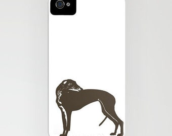 Greyhound Dog on Phone Case - greyhound, Samsung Galaxy S7, iPhone 6S, iPhone 6 Plus, Gifts for Dog Lovers, iPhone 8