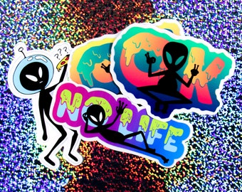 Alien Party Stickers